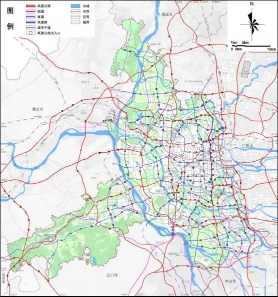 市域道路网规划图-重磅 佛山城市总体规划完整披露